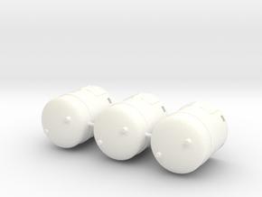 1/64th Industrial Hazardous Materials containers ( in White Processed Versatile Plastic