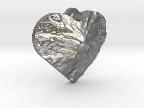 Rainier Heart in Natural Silver