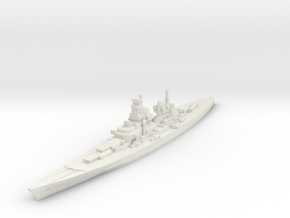 H-39 Battleship 1/2400 in White Natural Versatile Plastic