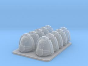 Legions Of Michael V7 Ornate Shoulder Pads  in Smooth Fine Detail Plastic