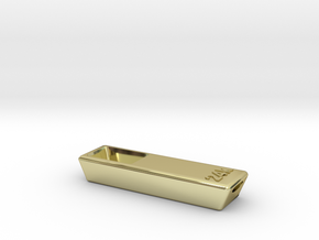 Solid Gold Bar Pipe - Tobacco Herb Smoking Pipe in 18k Gold