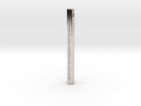 "Vertical Bar Customized Pendant ""Always Let Your"" in Platinum"