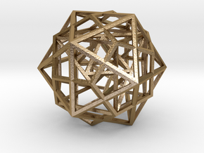 Nested Platonic Solids - Small in Polished Gold Steel