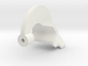 45 degree Plastic Gummer for RA800 in White Natural Versatile Plastic