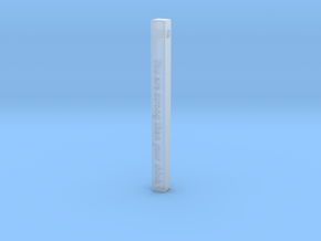 "Vertical Bar Pendant ""You are strong than your thi in Smooth Fine Detail Plastic"