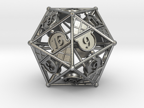 D20 Balanced - Ice Cream in Natural Silver