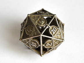 D20 Balanced - Ice Cream in Polished Bronzed-Silver Steel