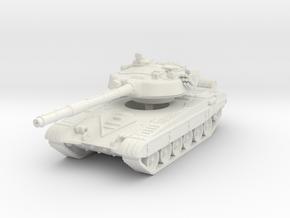 T-72 M1 1/76 in White Natural Versatile Plastic
