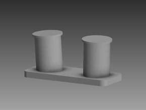 Heavy bollard set x 20 1/72 in Smooth Fine Detail Plastic