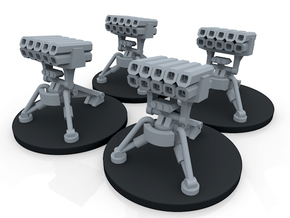 Infantry Anti Vehicle Turret - 4 Turrets in Smooth Fine Detail Plastic