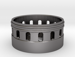 Bass Speaker Holder 28mm in Polished Nickel Steel