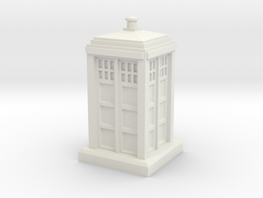 1:120 Police Box in White Natural Versatile Plastic