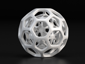 Little Hedron in White Strong & Flexible Polished