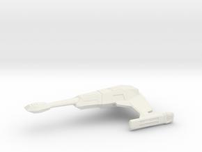 Klingon D2 in White Natural Versatile Plastic
