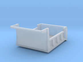 1/87 5-7yd (10ft) dump body in Smooth Fine Detail Plastic