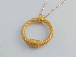 Iron Age Cat Torq Pendant in Polished Gold Steel