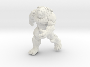 Gears of War Berserker miniature boardgame size in White Natural Versatile Plastic