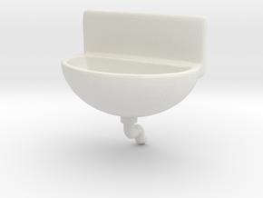 Printle Thing Alcatraz Washstand - 1/24 in White Natural Versatile Plastic