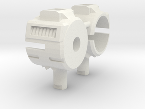Vented Combiner Wars Titan Adapter in White Natural Versatile Plastic
