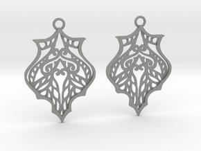 Eris earrings in Gray PA12: Medium