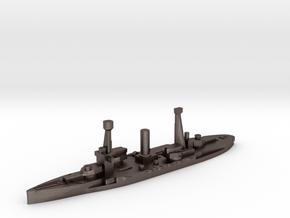 Spanish Jaime I battleship 1937 1:3000 in Polished Bronzed-Silver Steel