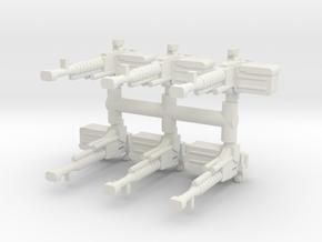 DShK heavy MG (x6) 1/87 in White Natural Versatile Plastic
