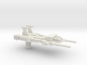 Greatshot Gun Mode (3mm, 5mm) in White Natural Versatile Plastic: Medium