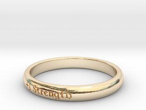 Ring of Strength in 14k Gold Plated Brass: 5 / 49