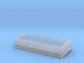 009 Steam Tram Engine Roof in Smooth Fine Detail Plastic