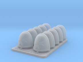 Space Templar V7 Rimmed Shoulder Pads in Smooth Fine Detail Plastic