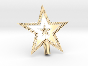 "Star Glisten Tree Topper - 10cm 4""  in 14k Gold Plated Brass"