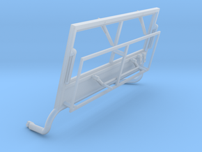 1/16 Jeep Windscreen Frame and Wipers in Smooth Fine Detail Plastic