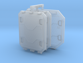 Repulsor Rear and Side Hatch extra armour SET 3 in Smoothest Fine Detail Plastic
