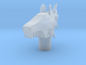 Equestrian Head in Smooth Fine Detail Plastic