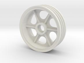 Tamiya Super Astute Front Right Wheel 2.2 inch in White Natural Versatile Plastic