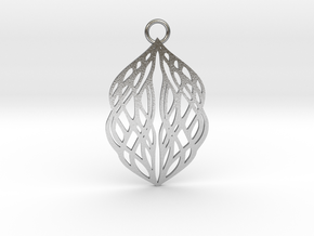 Stream pendant metal in Natural Silver: Large