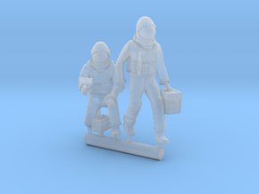 SPACE 2999 1/87 SIXTEEN12 ASTRONAUTS B in Smooth Fine Detail Plastic