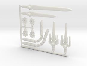 Nightbird Cyberninja Weapons (5mm) in White Natural Versatile Plastic: Large