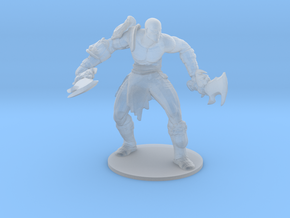 Kratos god of war Attack Stance base DnD miniature in Smooth Fine Detail Plastic