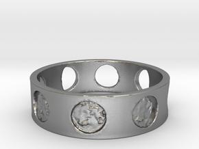 Jillian's Moon Ring in Natural Silver: 5.25 / 49.625
