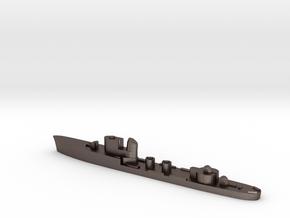 Italian Centauro torpedo boat 1:3000 WW2 in Polished Bronzed-Silver Steel
