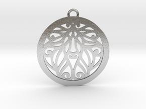 Aria pendant metal in Natural Silver: Medium