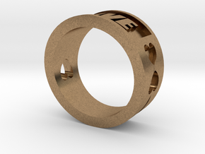 Love Ring By Jiang Yuan in Natural Brass