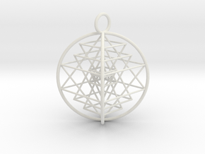 3D Sri Yantra Optimal in White Strong & Flexible
