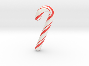 Candy cane - Giant & Hollow  in Glossy Full Color Sandstone