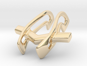 Ring Holder Pendant: Pilot in 14K Yellow Gold: Small