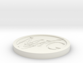 "1x Musky Ink Gaming ""Squid"" Objective Marker Token in White Natural Versatile Plastic"