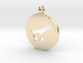 Alaph Symbol Pendent in 14K Yellow Gold