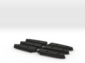 Windfoil rear shim set - 42 and 48cm rear wings in Black Natural Versatile Plastic
