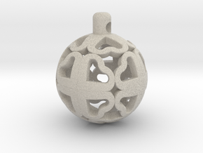 CloverBall pendant in Natural Sandstone